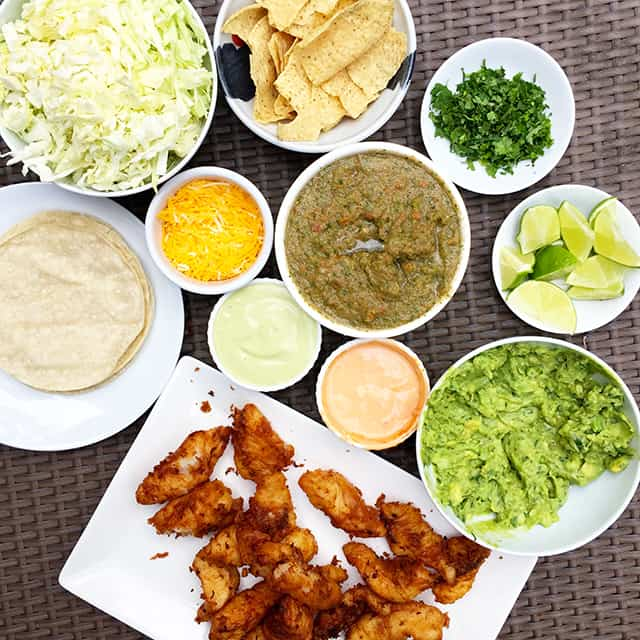 Beer battered fish tacos by for Fish taco batter
