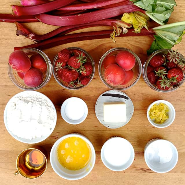 strawberry.apricot.rhubarb cobbler_ingredients