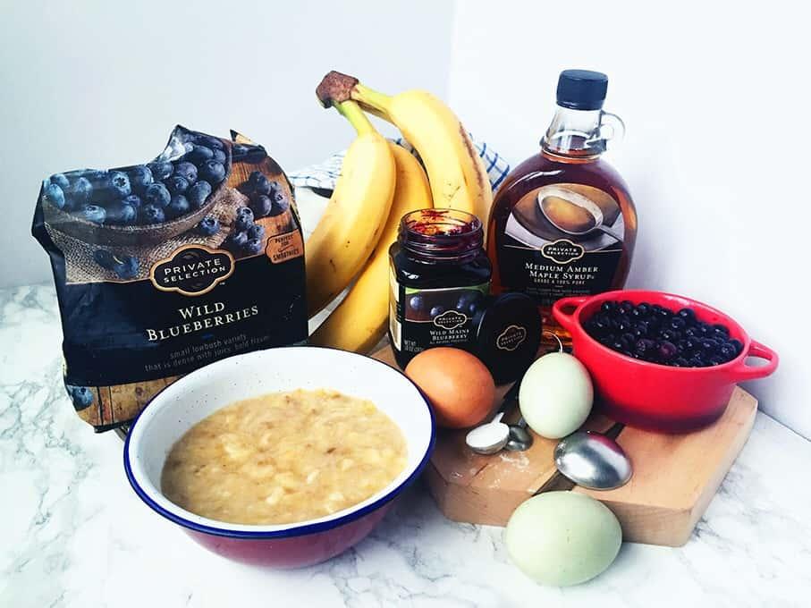 Gluten Free Wild Blueberry Banana Pancakes
