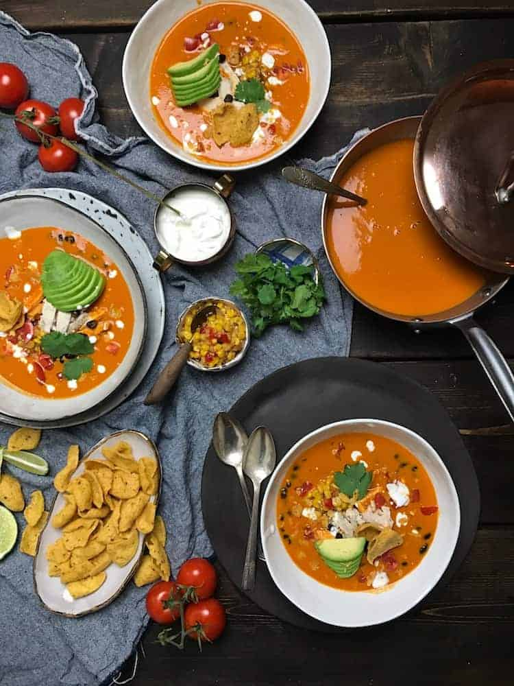 HEALTHY, EASY, CHICKEN TORTILLA SOUP