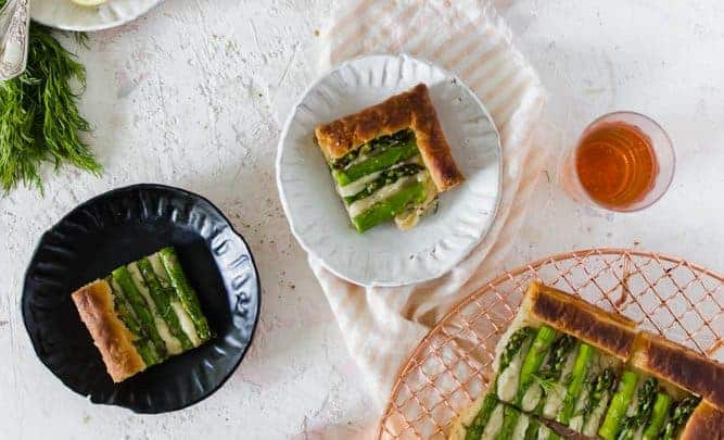 GRUYERE ASPARAGUS TART ON PUFF PASTRY