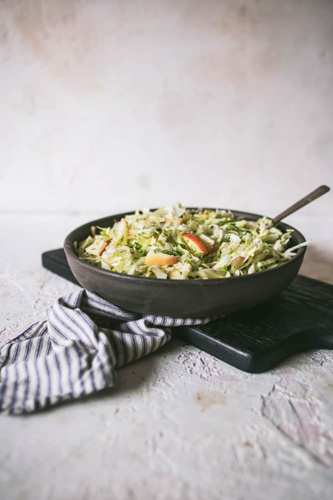 EASY 10 MINUTE APPLE CABBAGE SLAW
