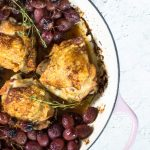 OVEN ROASTED CHICKEN THIGHS WITH GRAPES