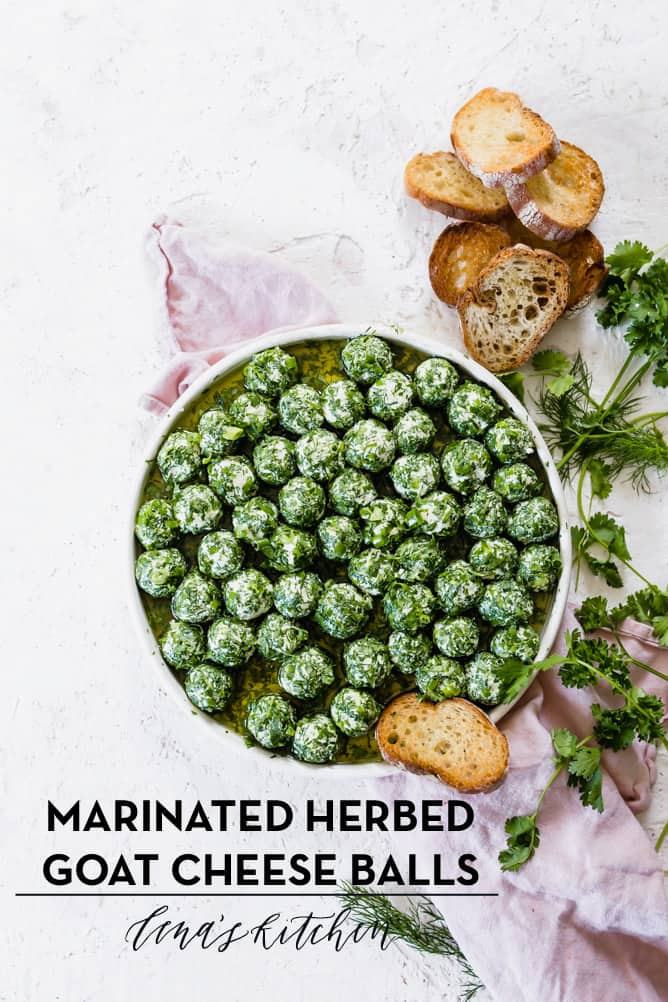 MARINATED HERBED GOAT CHEESE BALLS